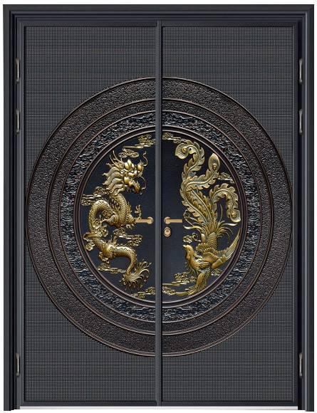 中式铸铝门图