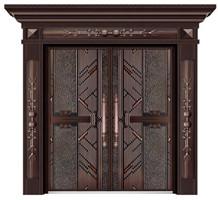 德式卡门别墅铜门入户大门