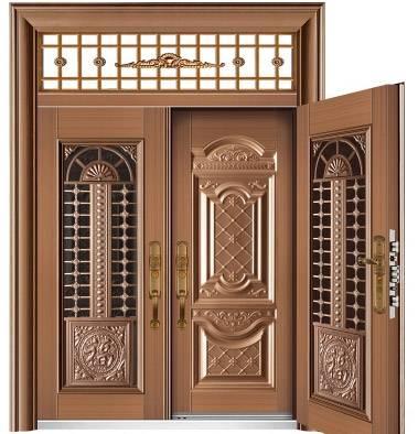 非标玻璃拼接门_复合门6017