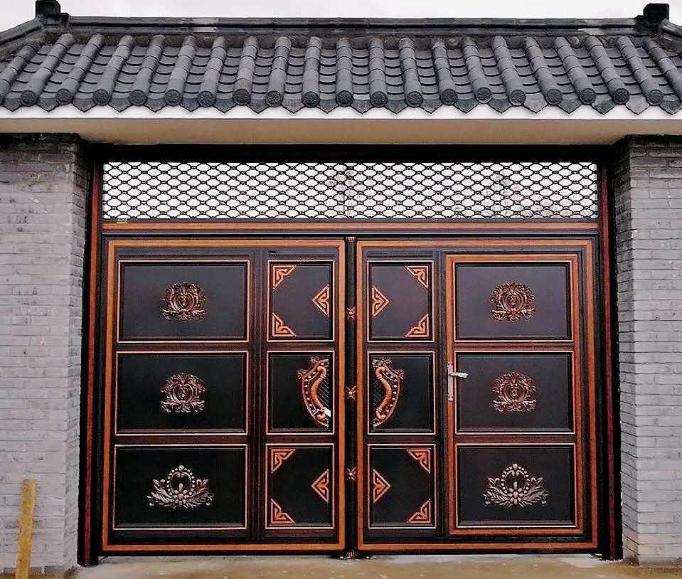 中式仿古别墅围墙大门