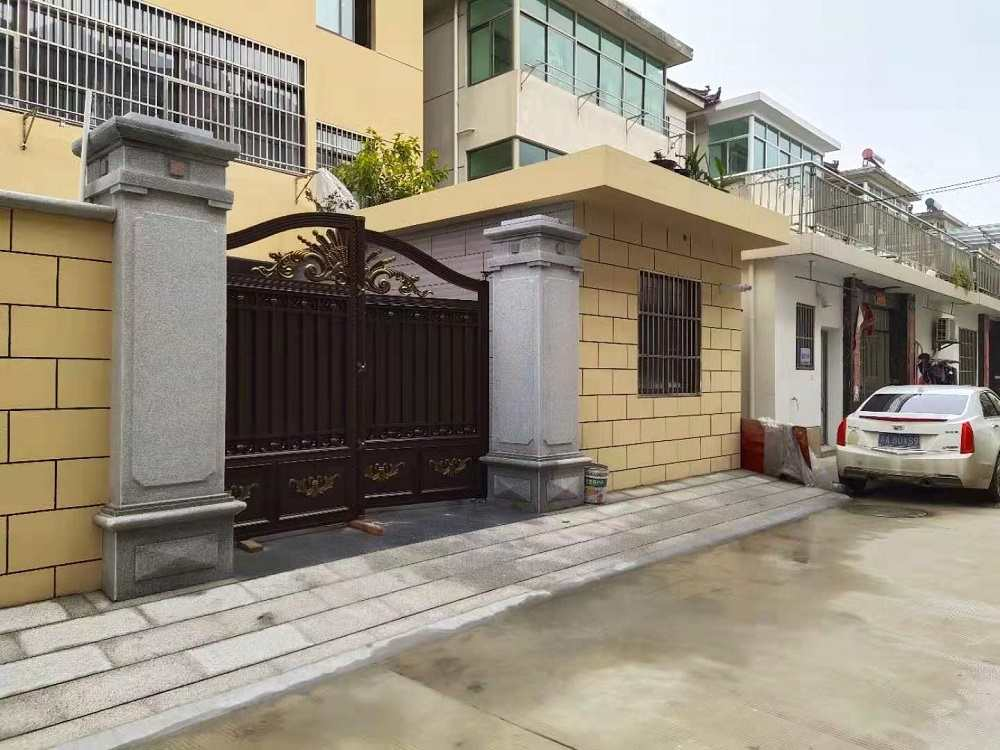 院子大门,别墅围墙大门,厂家安装历程